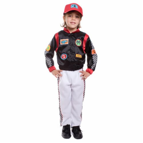 Dress Up America 507-L Child Race Car Driver Costume - Size Large Perspective: front