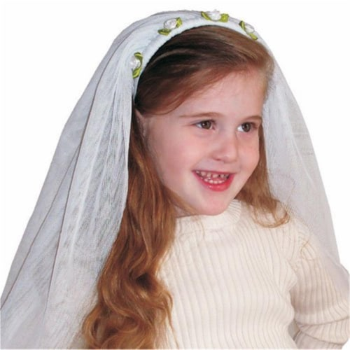 Dress Up America 508 Child Bride Veil - Halloween Accessory Perspective: front
