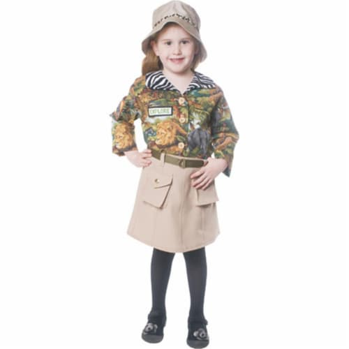 Dress Up America 514-T4 Safari Explorer Girls Child Costume - Size T4 Perspective: front