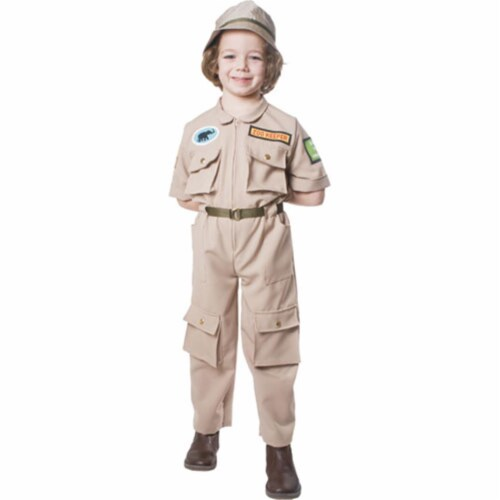 Dress Up America 516-T4 Zoo Keeper Child Costume - Size T4 Perspective: front