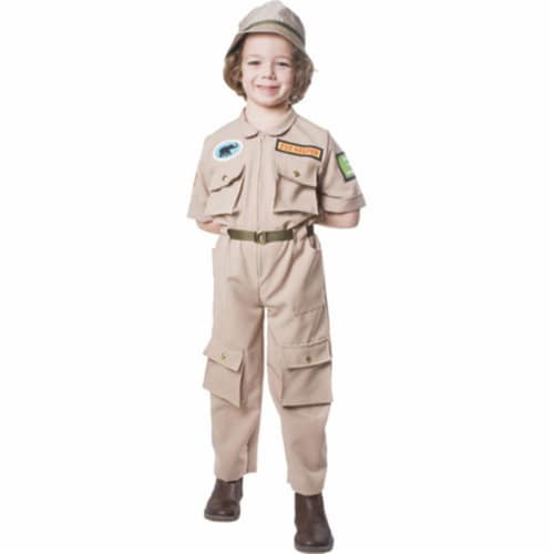 Dress Up America 516-S Zoo Keeper Child Costume - Size Small Perspective: front