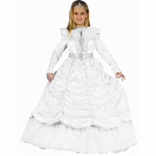 Dress Up America 540-T4 White Cinderella - Size T4 Perspective: front