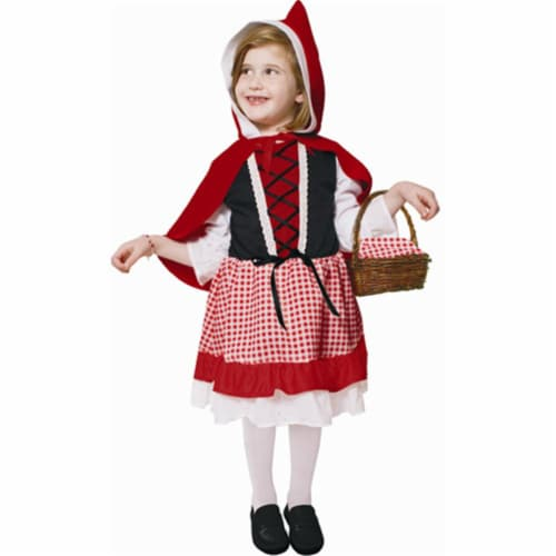 Dress Up America 543-T2 Lil Red Riding Hood - Size T2 Perspective: front