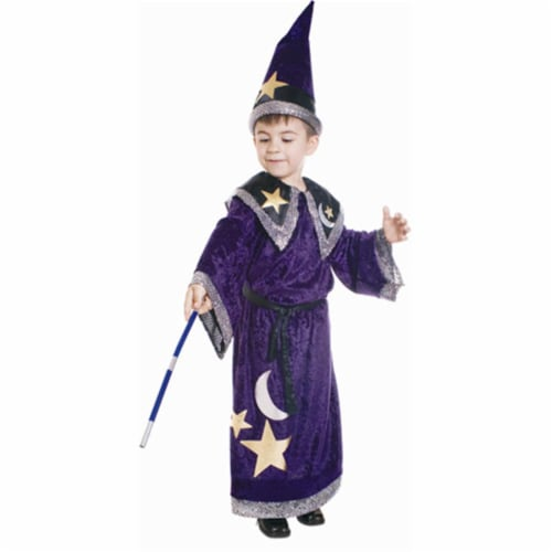 Dress Up America 548-M Magic Wizard Costume - Size Medium Perspective: front