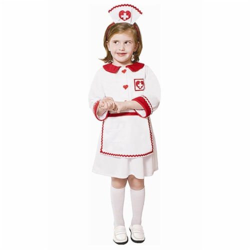 Dress Up America 549-T4 Red Cross Nurse - Size Toddler 4 Perspective: front