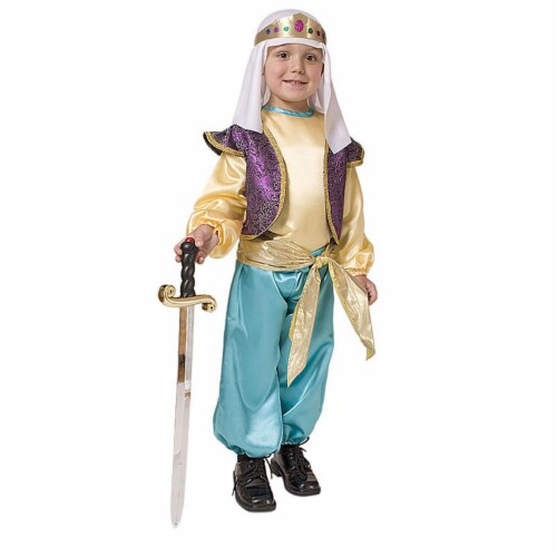 Dress Up America 551-T2 Arabian Sultan - Toddler T2 Perspective: front