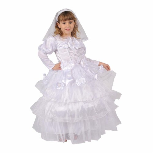 Dress Up America 568-T4 Exquisite Bride - Size Toddler 4 Perspective: front