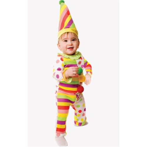 Dress Up America 579-0-6 Dots n Stripes Infant Clown - Size 0-6 Months Perspective: front