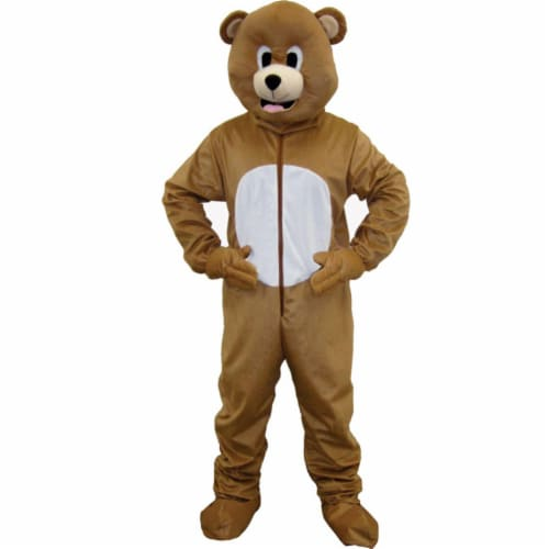 Dress Up America 593-T4 Brown Bear Mascot - Toddler 4 Perspective: front