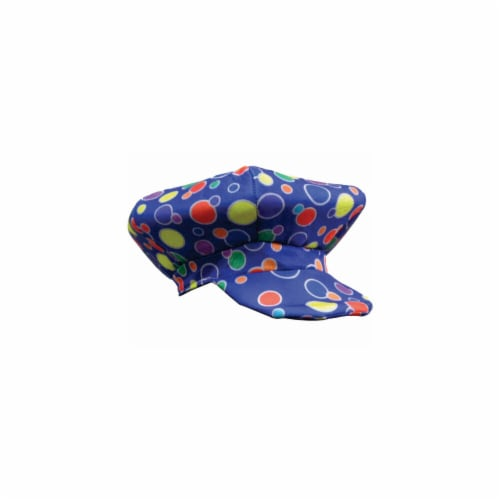 Dress Up America 619-B Blue Clown Cap Costumes Perspective: front