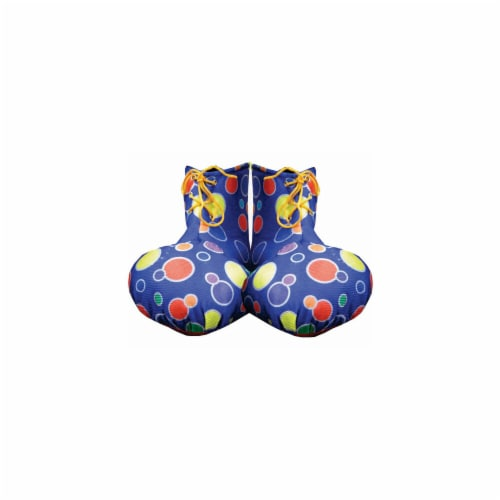 Dress Up America 624-B Blue Clown Shoe Covers Perspective: front