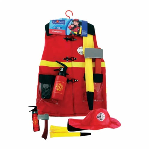Dress Up America 700 Fire Fighter Role Play Dress Up Set - Ages 3-7 Perspective: front