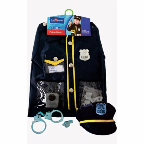 Dress Up America 701 Police Officer Role Play Dress Up Set - Ages 3-7 Perspective: front