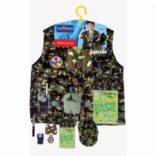Dress Up America 702 Military Forces Role Play Dress Up Set - Ages 3-7 Perspective: front