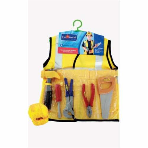 Dress Up America 705 Construction Worker Role Play Dress Up Set - Ages 3-7 Perspective: front