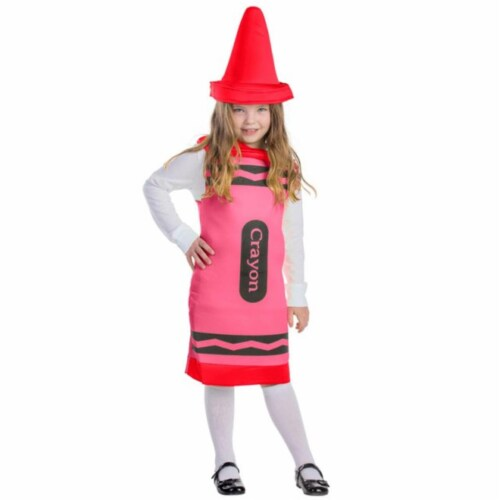 Dress Up America 598-L Red Crayon Costume, Large - Age 12 to 14 Perspective: front