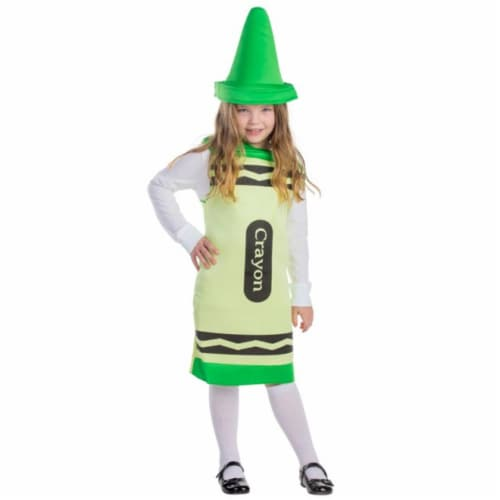 Dress Up America 599-L Green Crayon Costume, Large - Age 12 to 14 Perspective: front