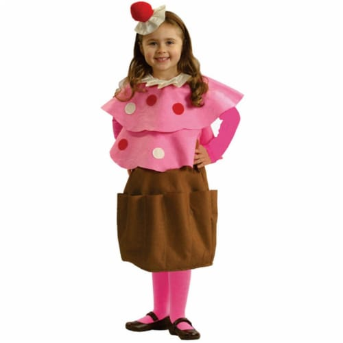 Dress Up America 706-M Medium 8-10 Creamy Cupcake Costume Perspective: front