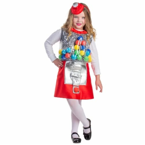 Dress Up America 749-S Gumball Machine Girls Costume, Small - Age 4 to 6 Perspective: front