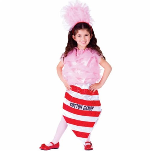 Dress Up America 750-S Cotton Candy Girls Costume, Small - Age 4 to 6 Perspective: front