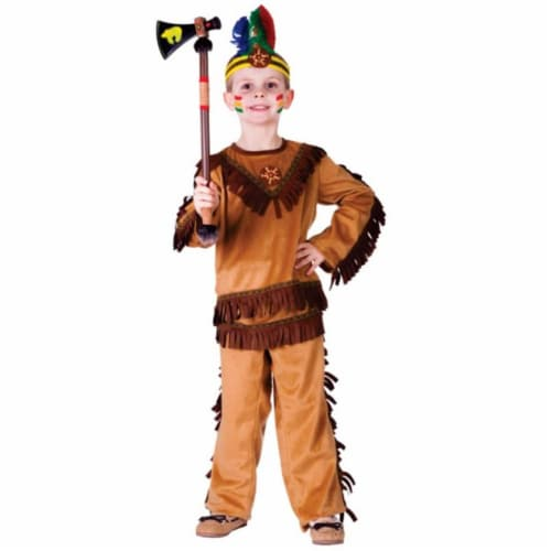 Dress Up America 751-M Native American Warrior Boys Costume- Medium - Age 8 to 10 Perspective: front