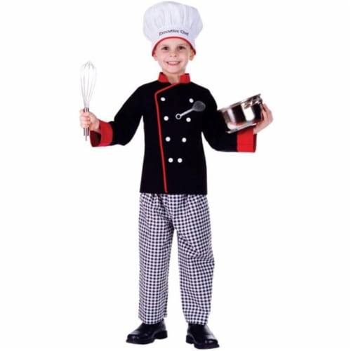 Dress Up America 753-L Executive Boy Chef Costume, Large - Age 12 to 14 Perspective: front