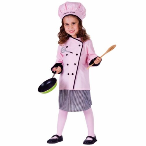 Dress Up America 754-S Master Girl Chef Costume, Small - Age 4 to 6 Perspective: front