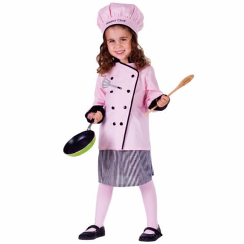 Dress Up America 754-M Master Girl Chef Costume, Medium - Age 8 to 10 Perspective: front
