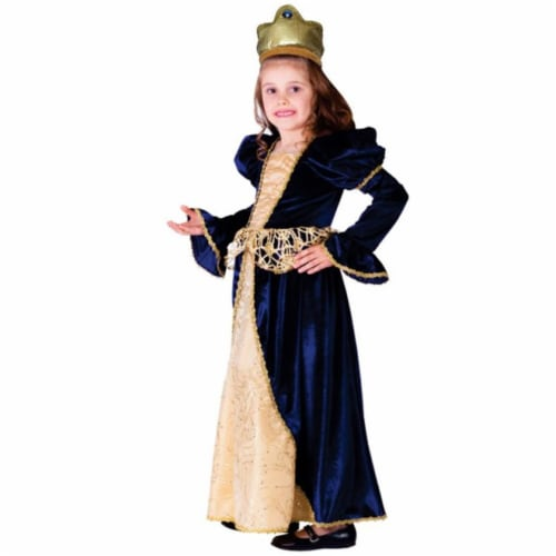 Dress Up America 756-S Renaissance Princess Costume, Small - Age 4 to 6 Perspective: front