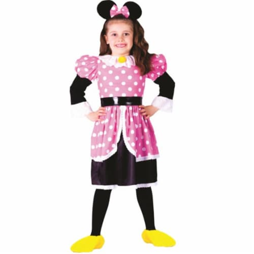 Dress Up America 758-S Ms. Mouse Costume, Small - Age 4 to 6 Perspective: front