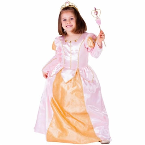 Dress Up America 760-S Pink Belle Ball Gown, Small - Age 4 to 6 Perspective: front