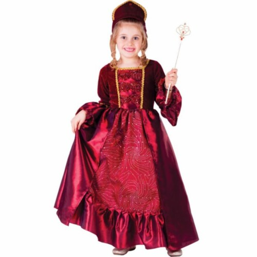 Dress Up America 762-S Burgundy Belle Ball Gown, Small - Age 4 to 6 Perspective: front
