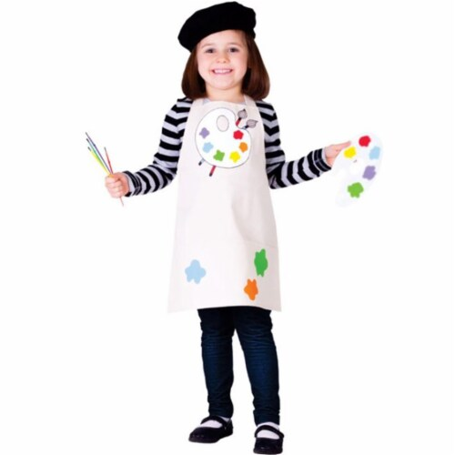 Dress Up America 764-M Talented Artist Girls Costume, Medium - Age 8 to 10 Perspective: front