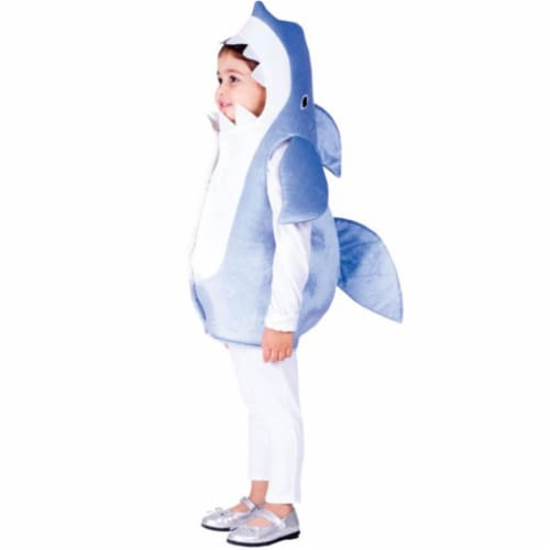 Dress Up America 768-S Sky Blue Shark Costume, Small - Age 4 to 6 Perspective: front