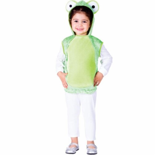 Dress Up America 769-S Mr. Frog Costume, Small - Age 4 to 6 Perspective: front
