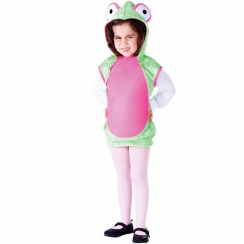 Dress Up America 770-S Mrs. Frog Costume, Small - Age 4 to 6 Perspective: front