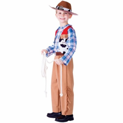 Dress Up America 772-L Junior CowBoy Costume, Large - Age 12 to 14 Perspective: front