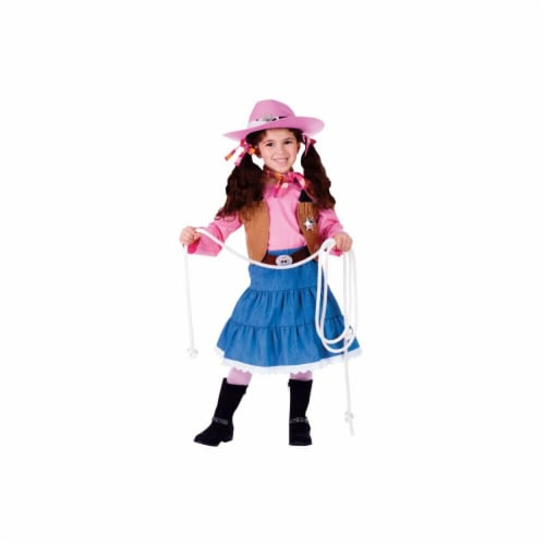 Dress Up America 773-M Junior CowGirl Costume, Medium - Age 8 to 10 Perspective: front