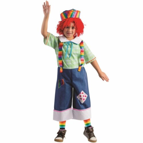 Dress Up America 774-M Rainbow Rag Boys Costume, Medium - Age 8 to 10 Perspective: front