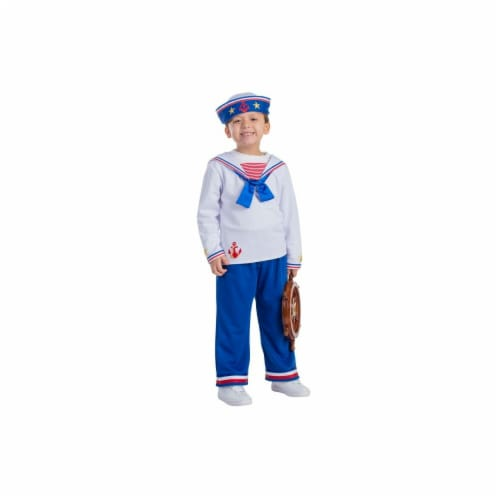Dress Up America 776-T2 Sailor Boys Costume, T2 Perspective: front