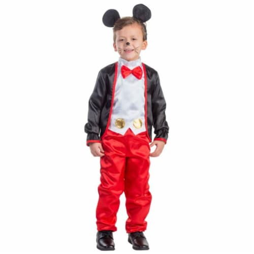 Dress Up America 778-M Charming Mr. Mouse Boys Costume, Medium - Age 8 to 10 Perspective: front