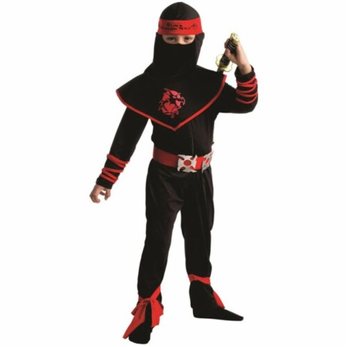 Dress Up America 784-S Ninja Warrior Boys Costume, Small - Age 4 to 6 Perspective: front