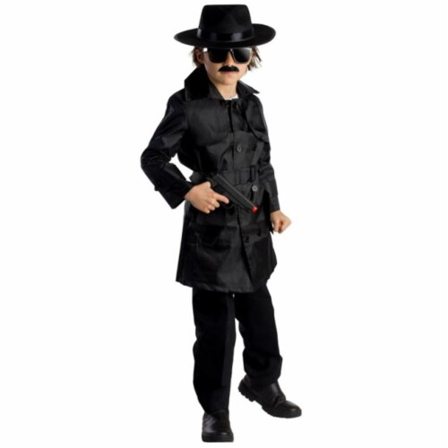 Dress Up America 785-L Spy Agent Boys Costume, Large - Age 12 to 14 Perspective: front