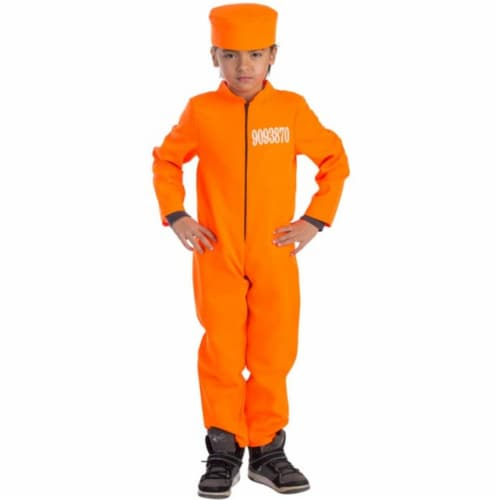 Dress Up America 793-M Prisoner Boys Costume, Medium - Age 8 to 10 Perspective: front