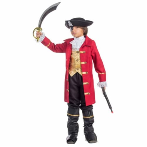 Dress Up America 795-T4 Elite Boys Pirate Costume, T4 Perspective: front
