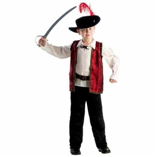 Dress Up America 799-L Courageous Musketeer Boys Costume, Large - Age 12 to 14 Perspective: front