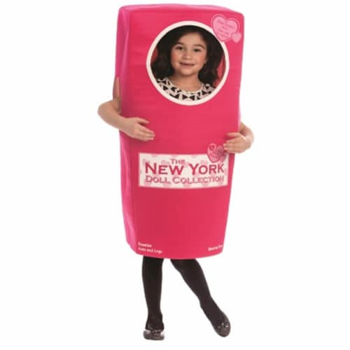 Dress Up America 825-S New York Doll Box, Small - Age 4 to 6 Perspective: front