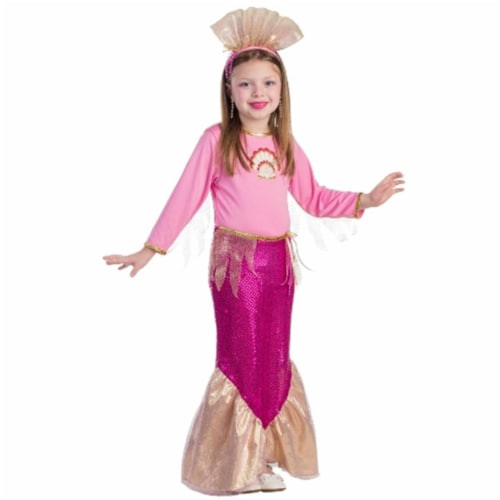 Dress Up America 827-S Little Mermaid Girls Costume, Small - Age 4 to 6 Perspective: front