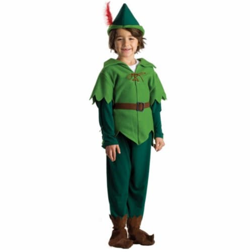 Dress Up America 837-T4 Peter Pan Boys Costume, T4 Perspective: front