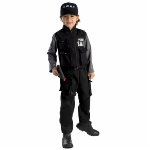 Dress Up America 838-L Junior SWAT Team Boys Costume, Large - Age 12 to 14 Perspective: front